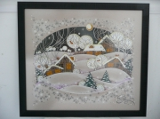 tableau paysages hiver nature noel neige : Winter time